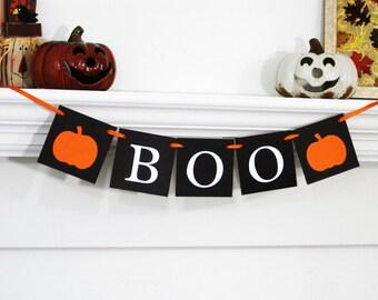 Halloween banner, pumpkin banner, halloween decor, boo banner, halloween decoration, fall decor,fall decorations,fall banner,halloween party