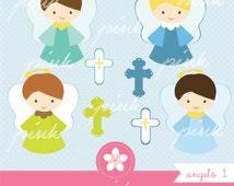 Angel Clipart Sweet Cross Digital Clip Art