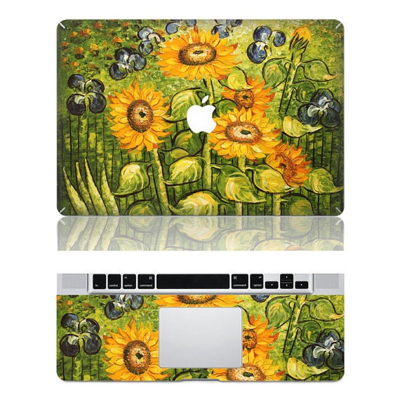 Van gogh's sunflower--Macbook Protective Decals Stickers Mac Cover Skins Vinyl Case for Apple Laptop Macbook Pro/Macbook Air