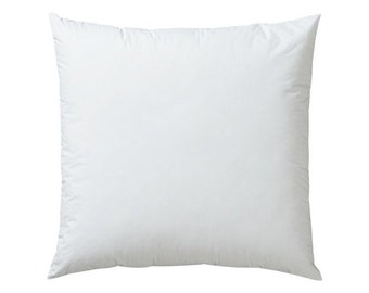 10x10 Square Pillow Insert, Pillow Form, 100% Premium Polyester Fiber, Completely Full and Firm, not empty or loose.