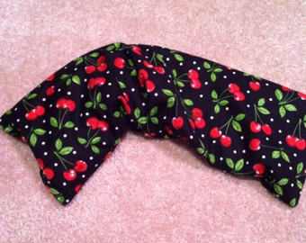 Cherry fabric cherry pit wrap (three section)