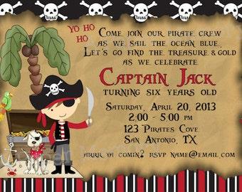 Pirate Invitation Birthday Baby Shower DIY Printable Invitation
