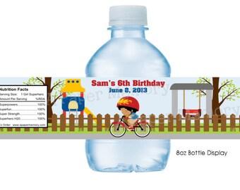 Playground Park Water Bottle Labels DIY Printable
