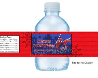 Spiderman Water Bottle Labels DIY Printable
