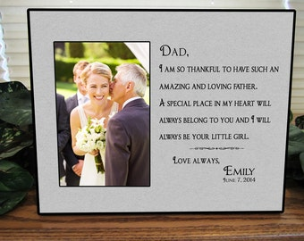 Father of the Bride Gift, Bridal Wedding Frame, Dad Wedding Gift, Parents Wedding Gift, Parents of the Bride, Personalized Picture Frame W18