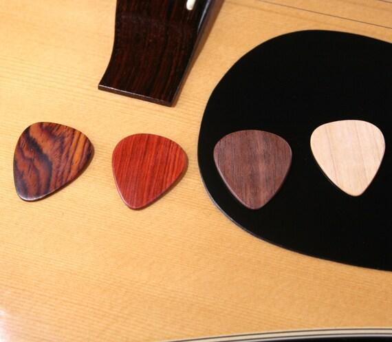 Cocobolo Guitar Wood Guitar Pick Set of 4 Cocobolo