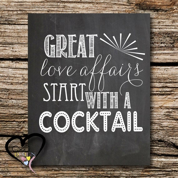 Wedding Alcohol Bar Decor Great Love Affairs Start With A