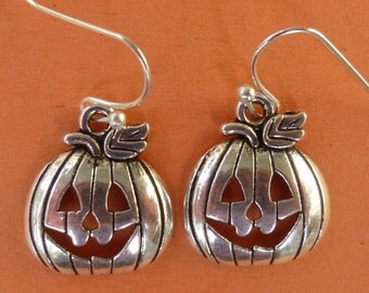 Pumpkin Jack-o-Lantern Earrings