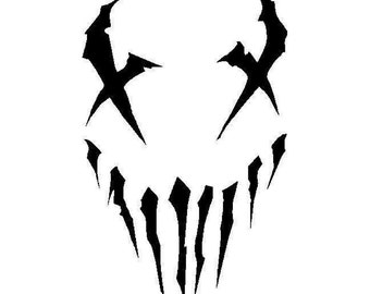 Skull Devil Demon Decal sticker mushroomhead wall art car graphics room decor zombie emo music band goth gothic metal AA74