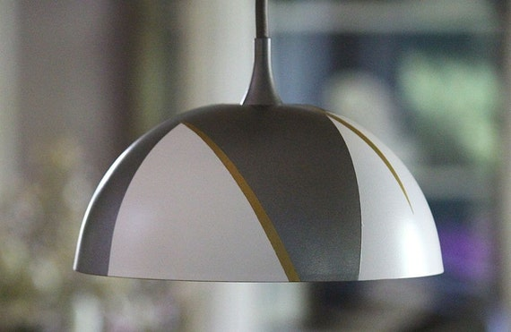 Modern Dome Hanging Pendant Light Fixture Grey By Mysecretlite
