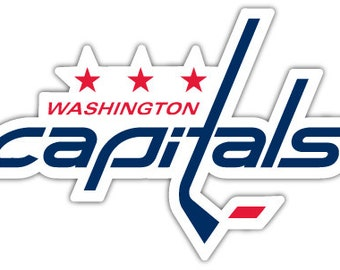 "Washington Capitals NHL Hockey sticker decal 5"" x 3"""