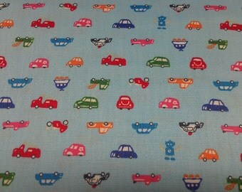 Kids fabric, childrens fabric, baby fabric, Car fabric -  cotton print Fabric