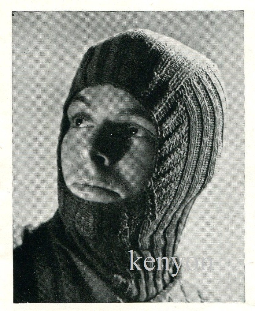 Instant Download WARM BALACLAVA HELMET by KenyonDownloadBooks
