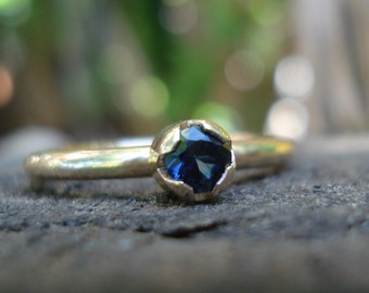 SAPPHIRE ring rose gold, sapphire stacking ring, sapphire stacker, blue sapphire ring, gold ring sapphire, sapphire rose gold, ExquisiteGem