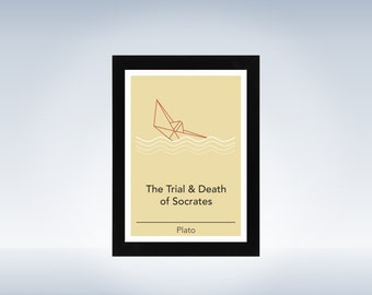 Philosophy art - Plato - philosophical origami minimalistic print on paper or canvas up to A0 size inspired by a philosophy book
