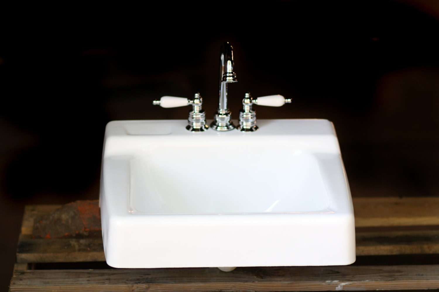 1966 Kohler Porcelain and Cast Iron Period Bath Sink by readytore