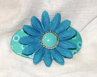 Blue and Turquoise Barrette