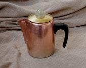 Copper Coffee Pot - Vintage  1930/1940 Norway pot coffee or tea.