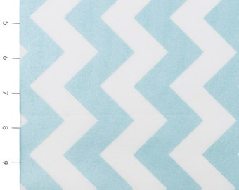 Hollywood Sparkle Medium Chevron Aqua by Riley Blake