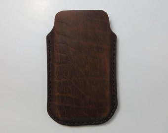 iPhone 5, 5S ,iPhone SE,  iPhone 4 and 4S Aged Leather Sleeve Case , Iphone Case , Iphone Leather case