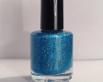 Halo in Blue - Handmade Custom Nail Polish / Glitter Polish