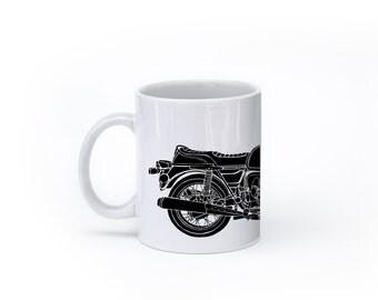 KillerBeeMoto: U.S. Made Coffee Mug Limited Release German Engineered 1970's Era Motorcycle Slash Seven Coffee Mug (White)