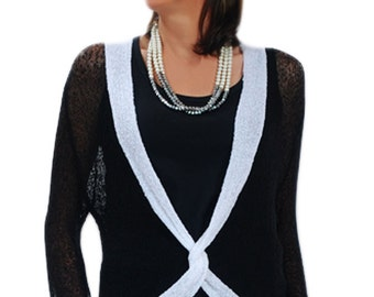Knit-Twist Shrug Pull-over, One Size (M-XL)