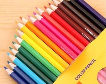 Set of 24pcs colorful pencil--For DIY scrapbooking, drawing, sketch