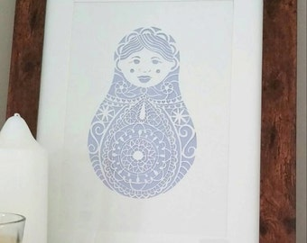 Anya the Russian Doll A4 Giclee Print