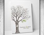 Custom Wedding Guest Book // Thumbprint Tree Guest Book // Guest Book Alternative // Canvas Fits 25-350 Fingerprints // Many Sizes Available