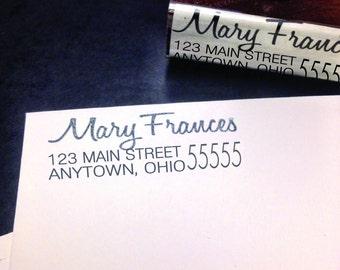 Custom Address Wooden Stamp- Rubber Stamp