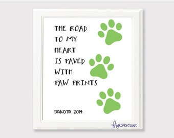 Road to My Heart Pawprint Art
