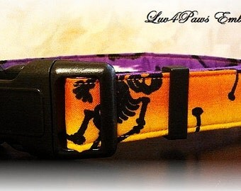 Adjustable Skeleton Dog Collar for Halloween