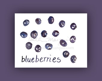 Fresh blueberries fine art print (5x7, 8x10, or 13x19 inches), kitchen art, fine art print, affordable art, home decor, wall art, gift