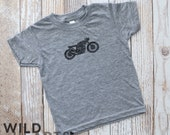 live hard • ride fast • forever young // moto tee - gray tee - sizes 3 months to 4T