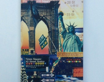 iPhone 5 case New York I Phone 5s cover with Brooklyn Bridge New York Printed Phone case Statue of Liberty NYC IPhone 5 case