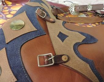 Handmade Leather CHAPS Western 1970's Vintage deadstock OOAK
