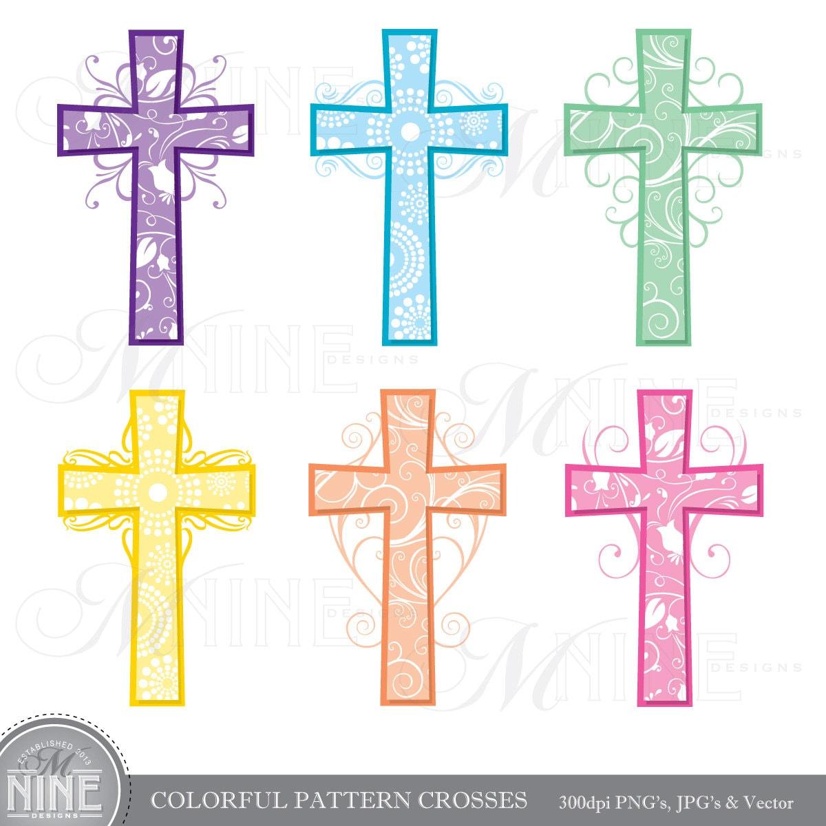 cross clip art colorful pattern crosses clipart vector art file
