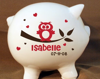 Popular items for piggy bank on etsy - Extra large ceramic piggy bank ...