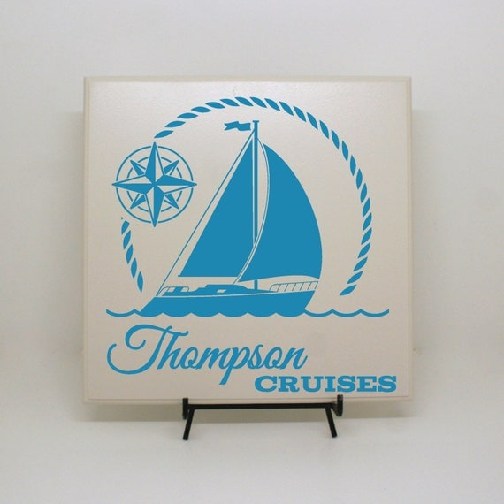 Custom Cruise Ship Sign Lake Home Decor Vacation Home Sign