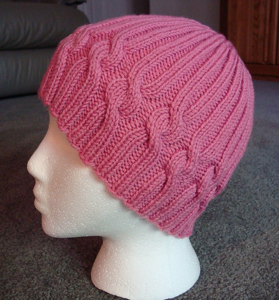 Knit Patterns For Hats For Cancer Patients : KNIT PATTERN: Ribbons of Hope Hat Pattern Download