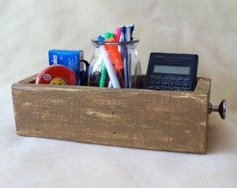 Wooden Box - Pallet Box - Storage Box - Desk Organizer