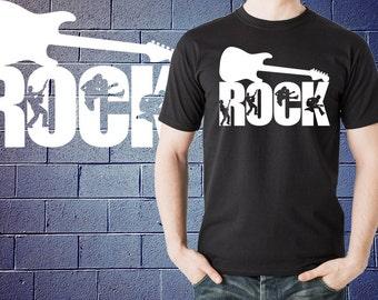 Rock Guitar T-Shirt Rock Music Tshirt Shirt Tee