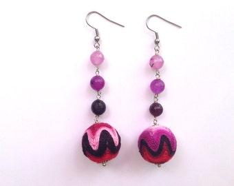 Purple Zig/Zag Earrings