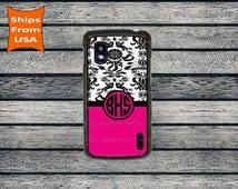 Google Nexus 4 case, BlackBerry Z10 case, Floral Pattern Monogram Nexus 4 Case, Google Nexus 5 Case, Nexus 6 Case