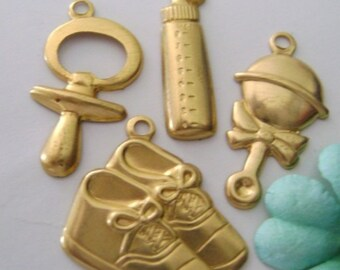 Baby Embellishments Brass Card Making supplies