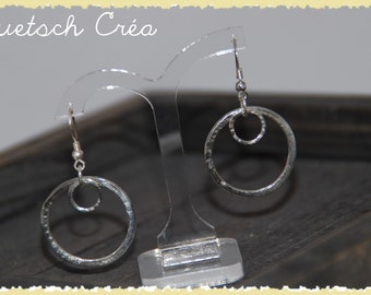 925 Silver hammered earrings