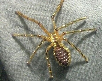 Beaded Shield Spider pin accessory - large