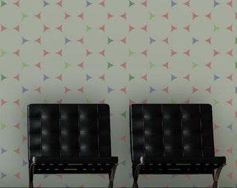 Wall Stencils Ava - Circle Pattern - Reusable Geometric stencil for DIY Decor