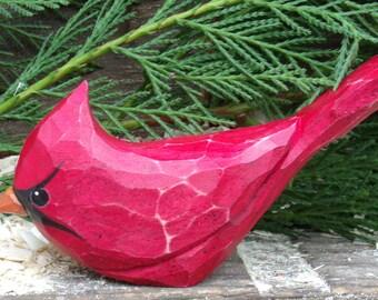 Hand Carved Windowsill Bird (Cardinal)